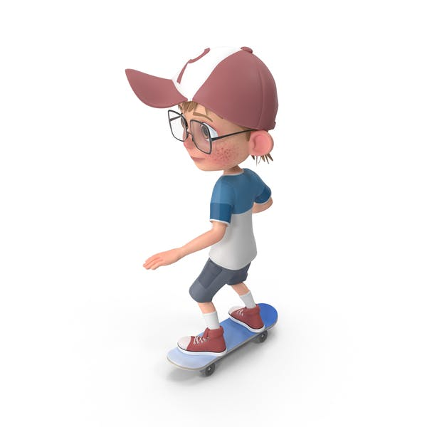 Thumbnail for Cartoon Boy Harry Skateboarding