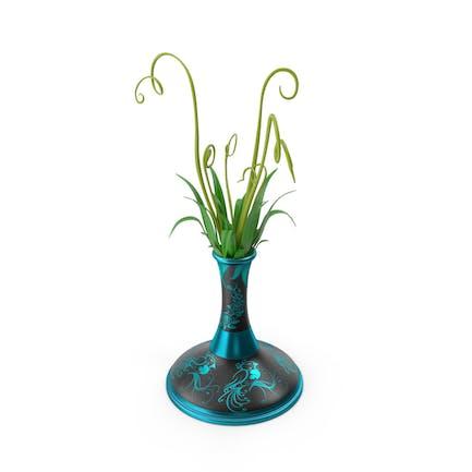Flower Pot Vase Green Rose Bird