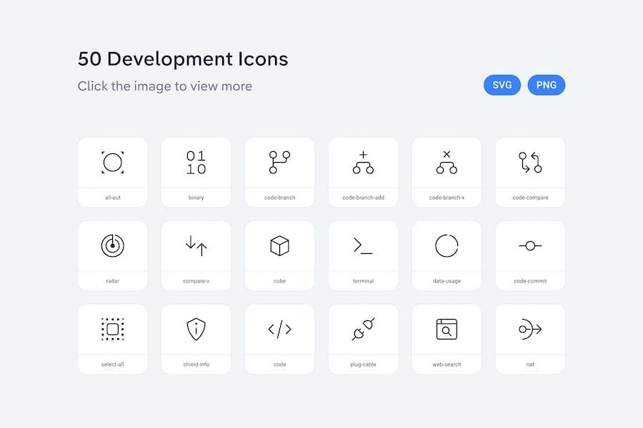 Development icons — Line