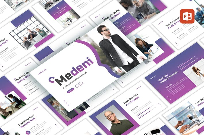 Thumbnail for Medeni - Business PowerPoint Template