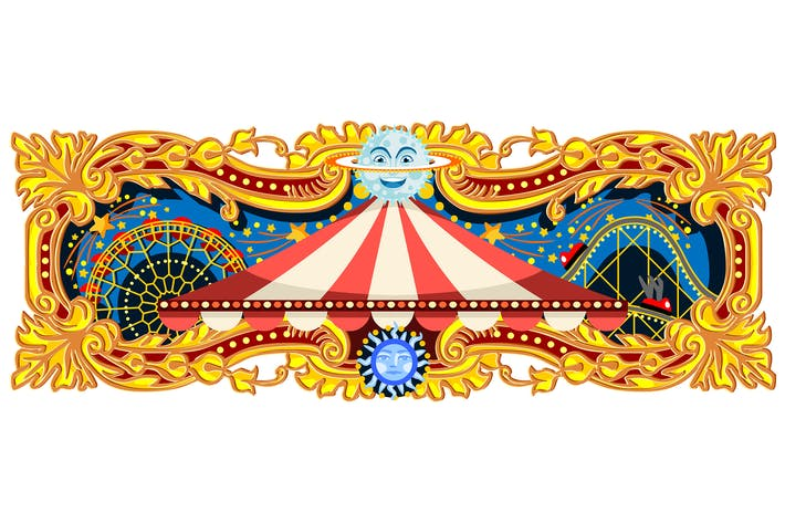Thumbnail for Carnival Banner Circus Theme