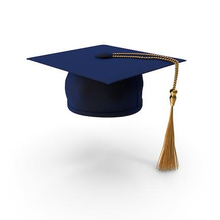 Gorro de graduación azul