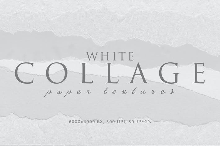 Thumbnail for Collage White Paper Textures