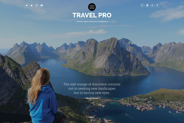 Thumbnail for Travel Pro Tumblr Theme