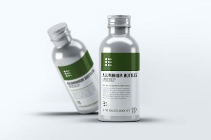Aluminiumflaschen Mock-Up