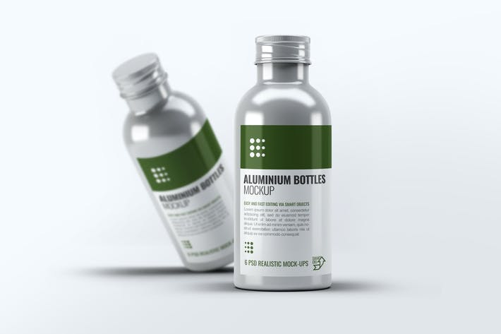 Aluminium Bottles Mock-Up