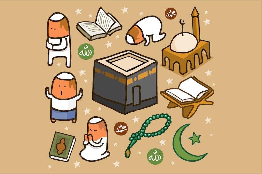 Islamic set flat