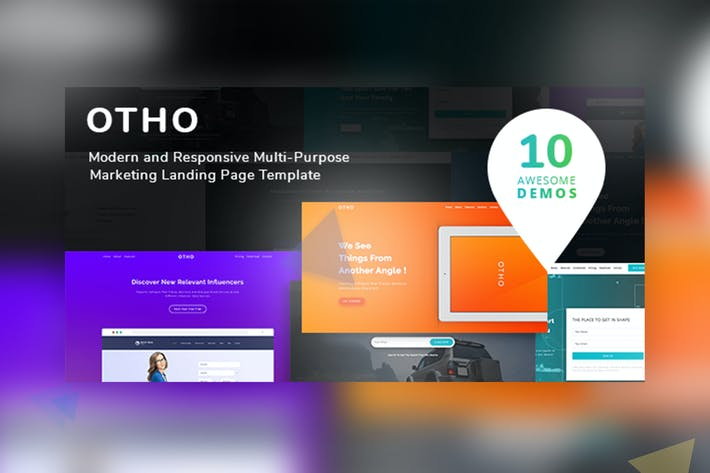 Cover Image For Otho - Landing Page Set