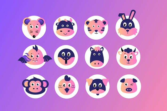 Thumbnail for Chinese Zodiac Badges