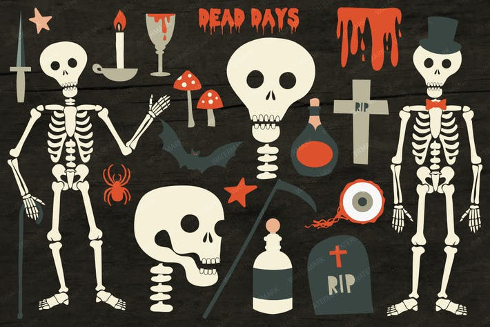 Thumbnail for Dead Days Halloween Horror Illustrations