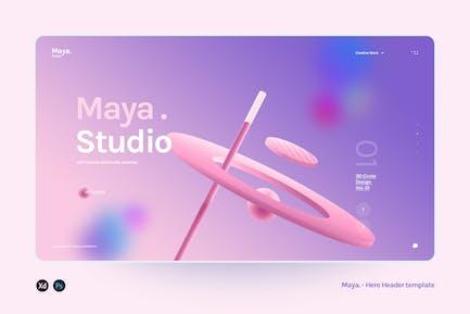 Maya - Hero Header Agency template
