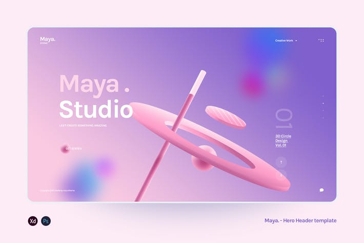 Maya - Hero Header Agency template