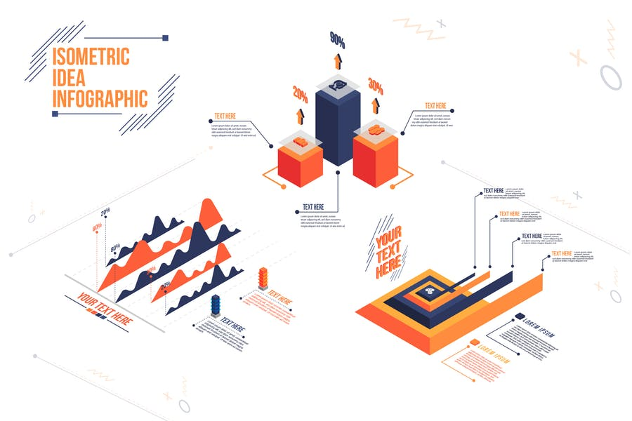Isometric Idea - Infographic