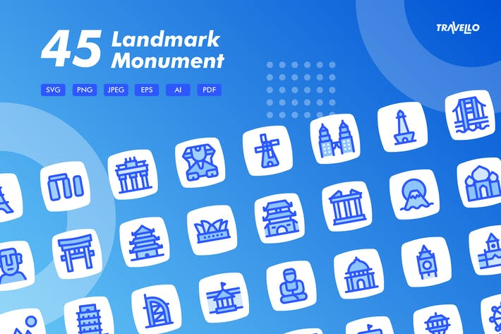 Thumbnail for Travello Landmark Monument Icons