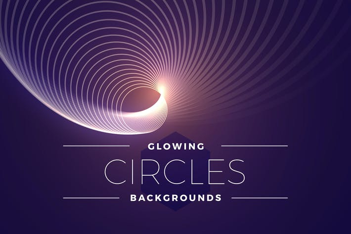 Thumbnail for Glowing Circles Backgrounds