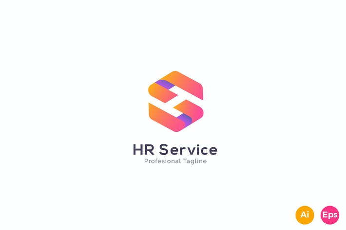 Cover Image For HR Service - Letter S Logo Template