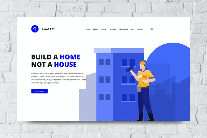 Thumbnail for Construction Web Header PSD and Vector Template