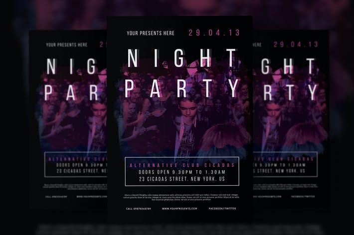 Thumbnail for Night Party Flyer