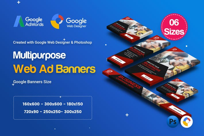 Thumbnail for C43 - Multipurpose, Business Banners GWD & PSD