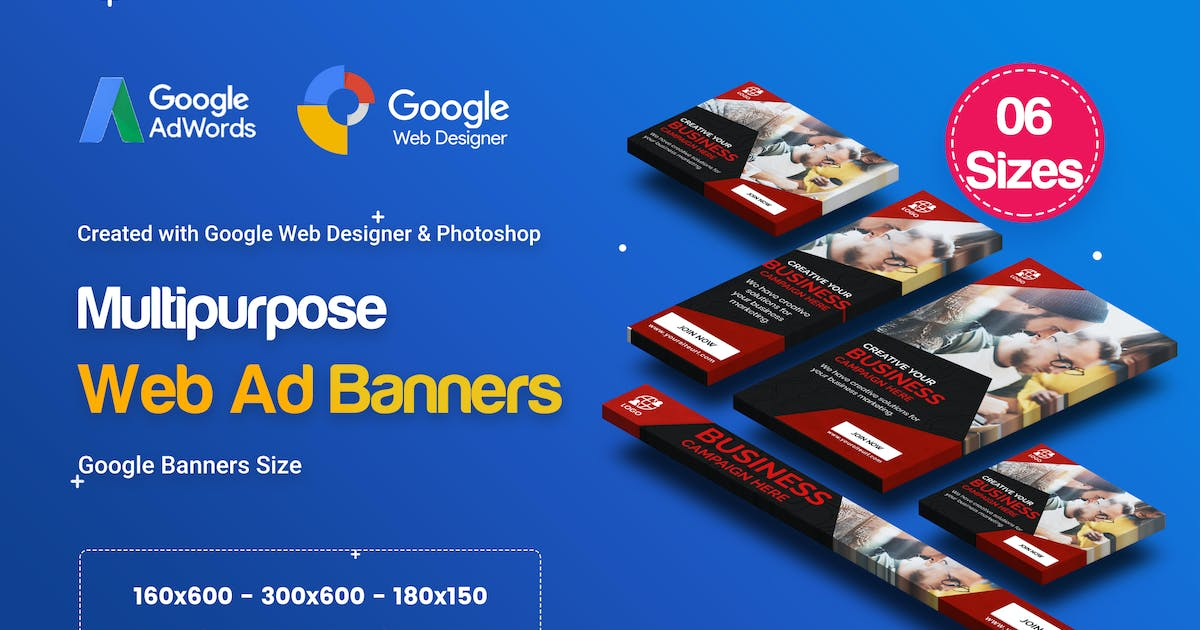 Download C43 - Multipurpose, Business Banners GWD & PSD by iDoodle