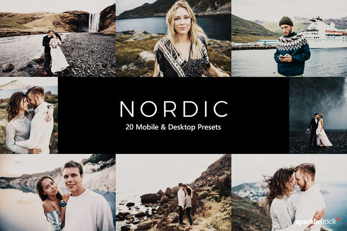 Thumbnail for 20 Nordic Lightroom Presets & LUTs