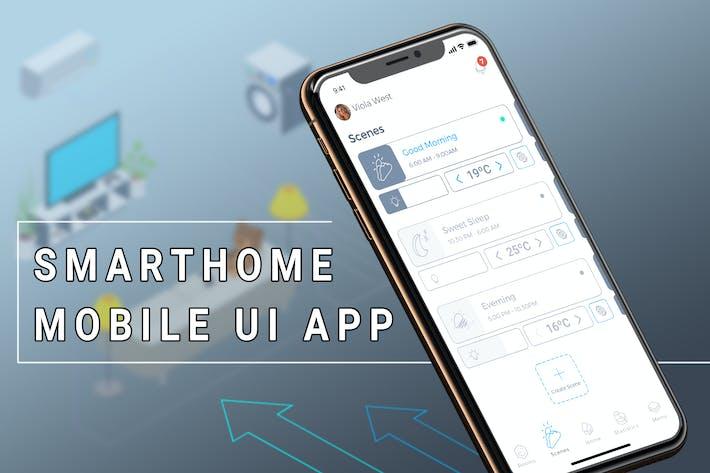 Thumbnail for Smart Home Mobile Ui - TH