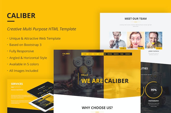 Thumbnail for Caliber - Creative Multi Purpose HTML Template
