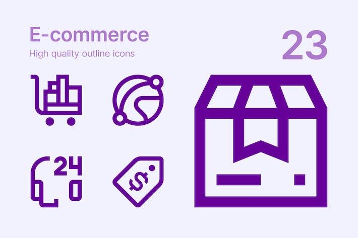 Thumbnail for E-commerce icons
