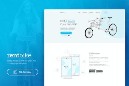 RentBike - Rent a Bicycle Landing PSD Template