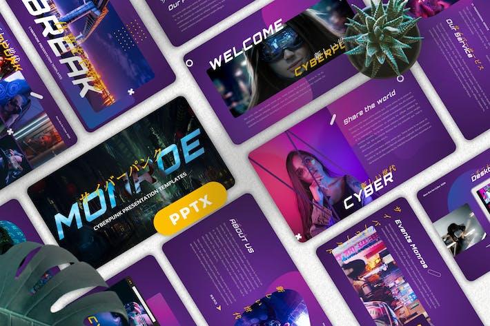 Monroe - Cyberpunk Googleslide Templates