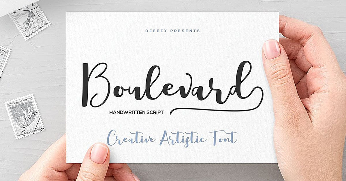 Download Boulevard Script Font by cruzine