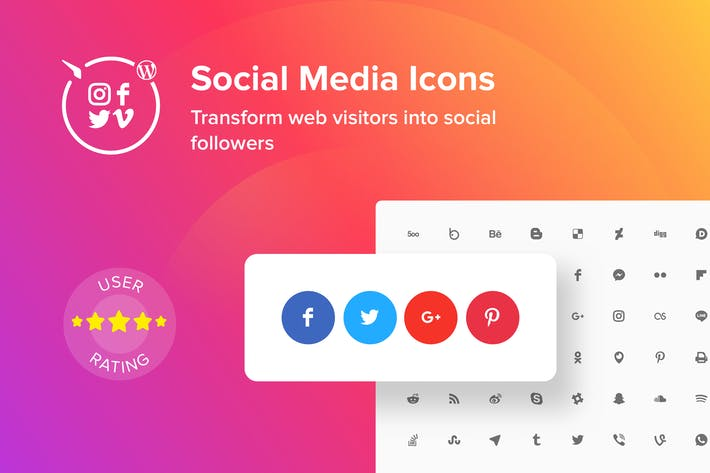 Cover Image For WordPress Social Media Icons