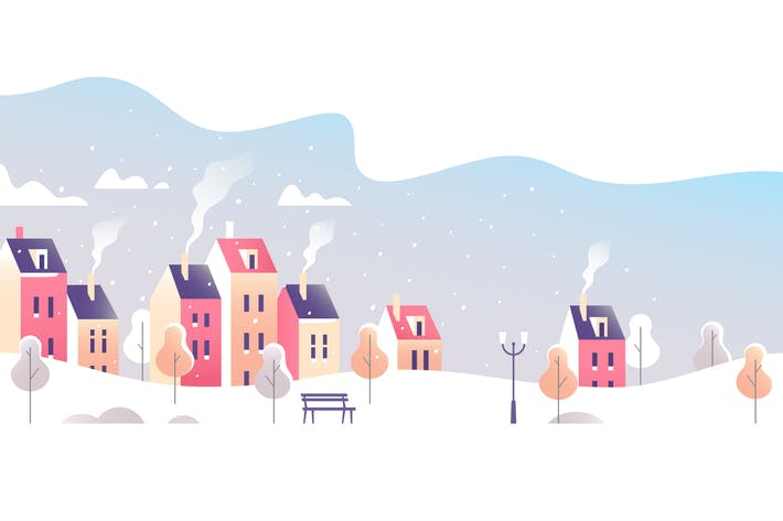 Cover Image For Winter City Landscape