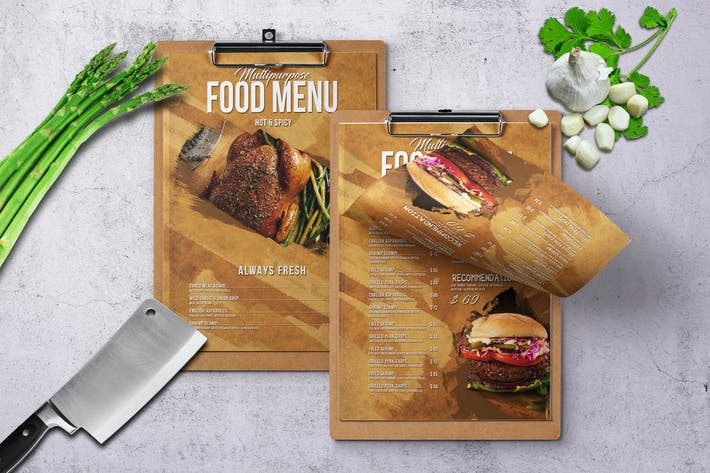 Thumbnail for Mehrzweck-Lebensmittel-Menü — A4 und US Brief