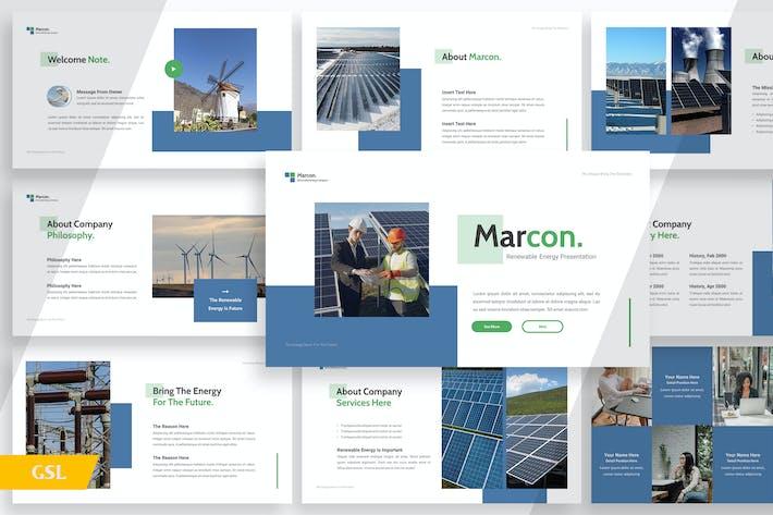 Thumbnail for Marcon Возобновляемые источники энергии - Google Слайды