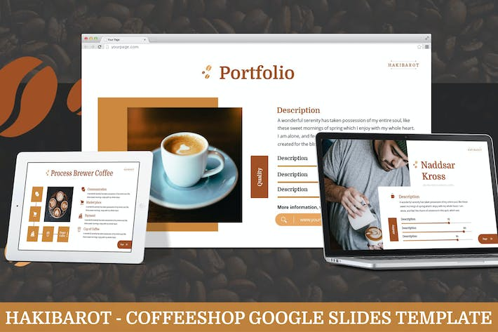 Thumbnail for Hakibarot - Coffeeshop Google Slides Template