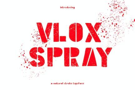 Vlox Spray - Tipo de letra dibujado a mano