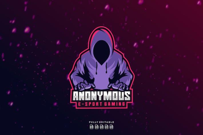Thumbnail for Anonymous Gamer Hacker E-sport Gaming Logo