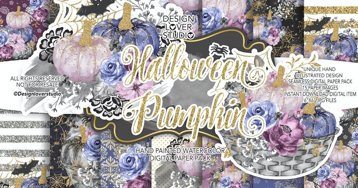 Download Halloween Pumpkin digital paper pack by designloverstudio