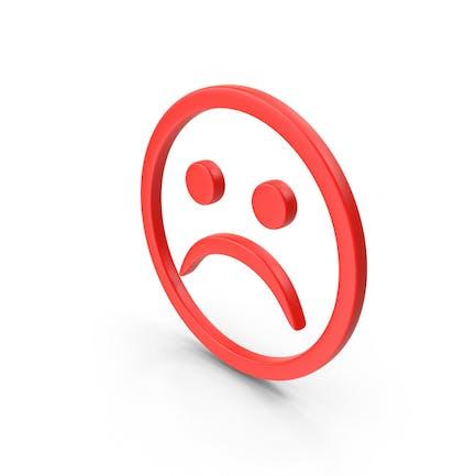 Símbolo de cara infeliz