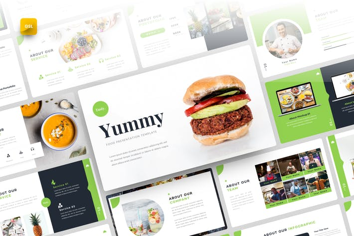 Thumbnail for Yummy-Food Google Slides Template