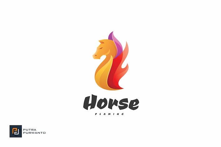 Thumbnail for Horse Flaming - Logo Template