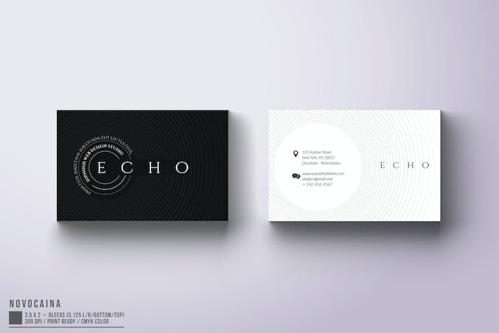 Thumbnail for Echo Business Card Design