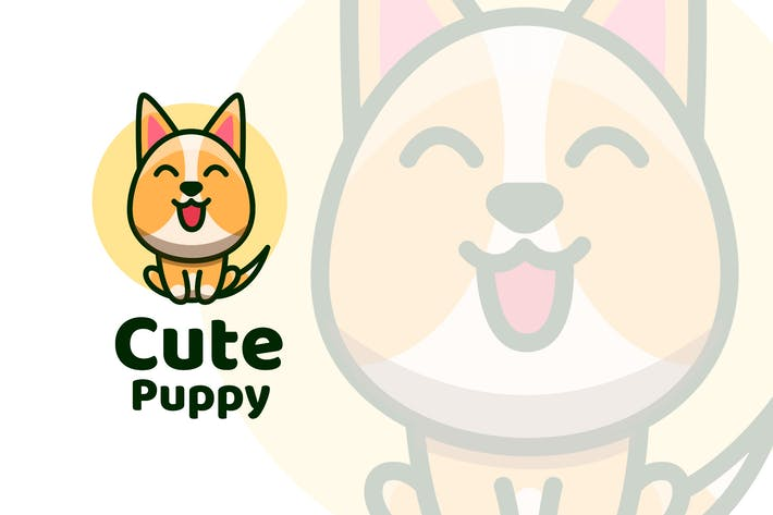 Thumbnail for Cute Puppy Logo Template