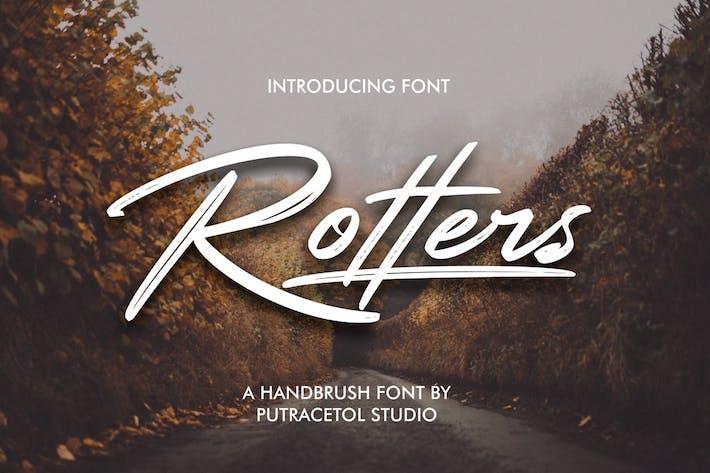 Thumbnail for Rotters - Handbrush Font
