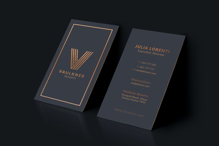 Thumbnail for Luxury Resorts Business Card