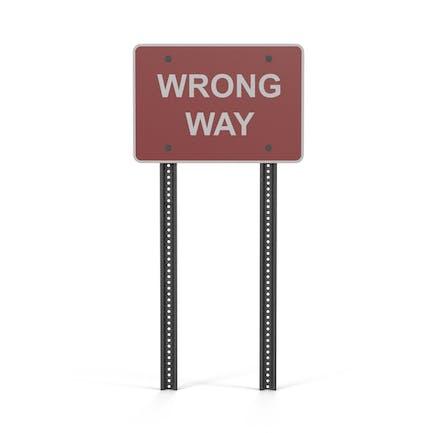 Señal de camino equivocado