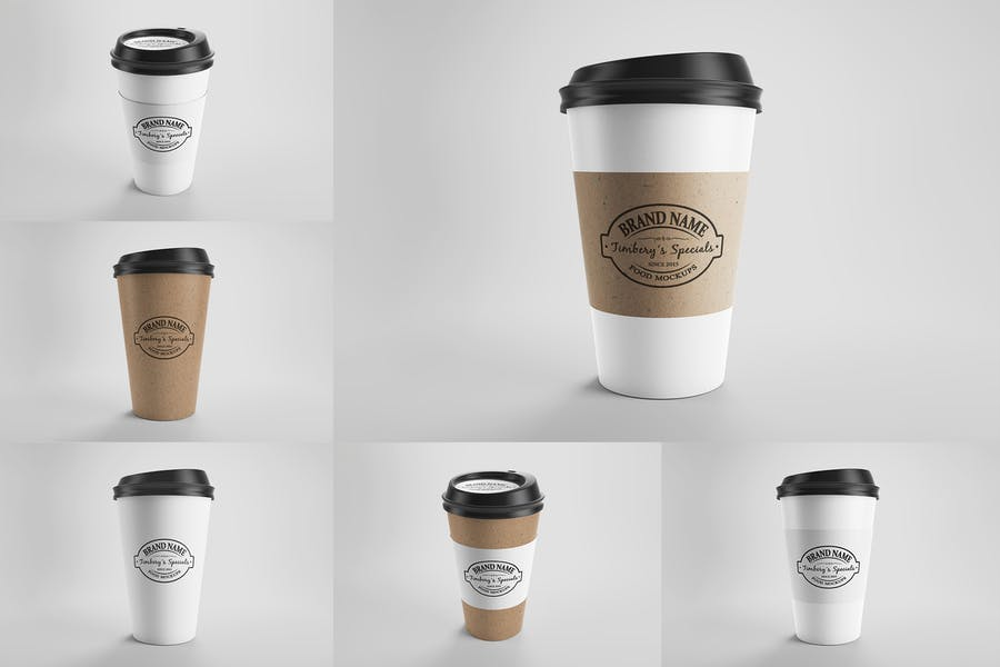 Paper Eco Coffee Cup Mockups Vol.1