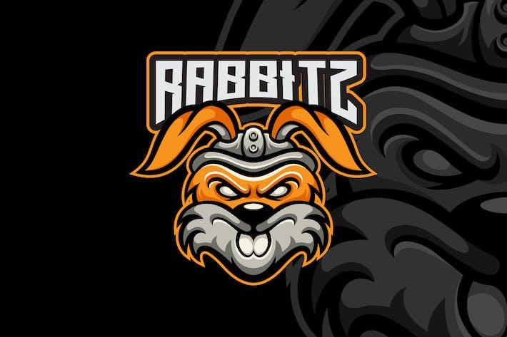Thumbnail for Rabbit Esport Mascot Logo Template