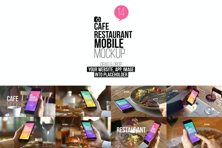 Cover Image For Cafe Restaurant Mobile Mockup